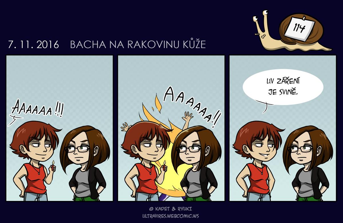 Komiks 114: Bacha na rakovinu kůže