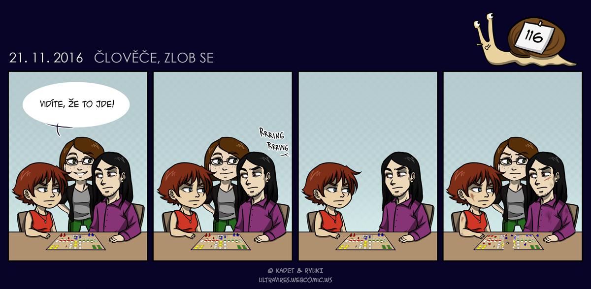 Komiks 116: Člověče, zlob se