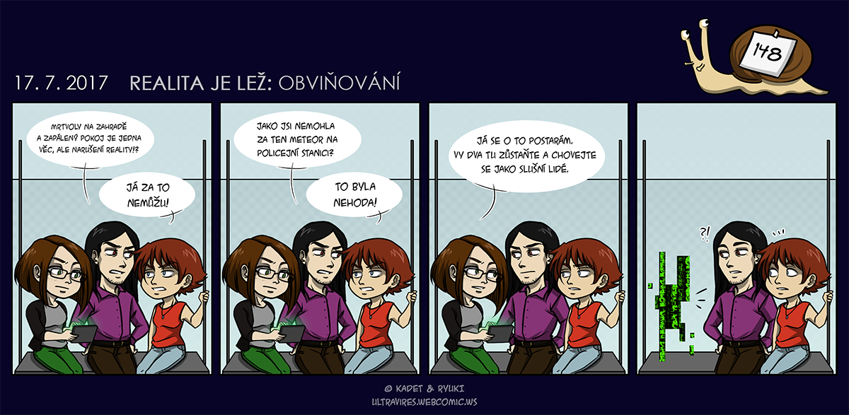 Komiks 148: Realita je lež: Obviňování